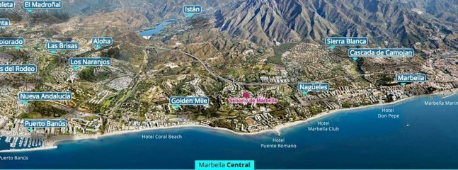 The apartment is located between Marbella Center and Puerto Banus