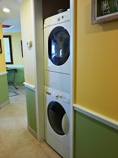 HE Washer/dryer inside the unit.  Please use only HE detergent