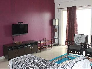 Fully furnished lake facing apartment near Airport, Bangalore