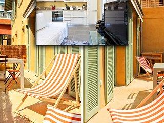 1 mn sea A/C + terrace for 4 - D, Niza