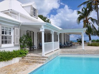 A unique French West Indian 5 bedroom villa on Baie Rouge Beach