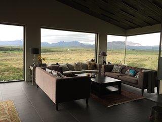Sólfaxi Modern Luxury Villa, Amazing Panorama View, Reykholt