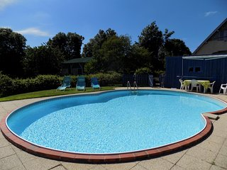 Farm house , own large garden and heated pool.