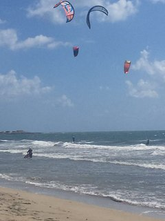 a 2 km. kite surf