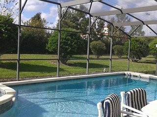 Your Home Near Disney with pool , spa Sleeps 8+