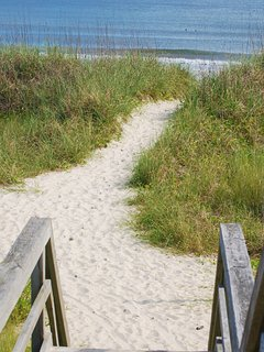Our beach access is just steps away.