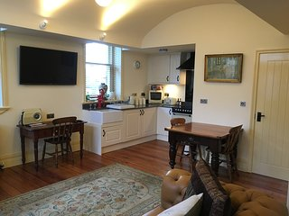 Converted coach house open plan living, Accrington