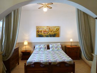 Master bedroom with  huge bed, orthopedic mattress and ample storage