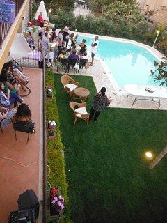 vista panoramica durante un evento privato