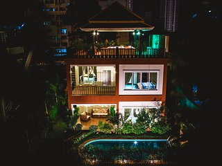 2bdr Arabella villa, pool & roof top jacuzzi 227, Pattaya