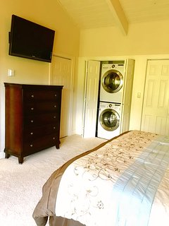 Master bedroom contains the LG Stackable Washer and Dryer