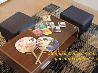 Shinjuku modern quiet and comfort +wifi~Flat rate~