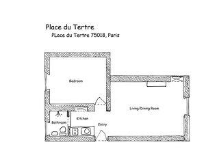 PerfectlyParis Place du Tertre sleeps 3, París