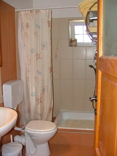 Bathroom with shower for bedroom 1