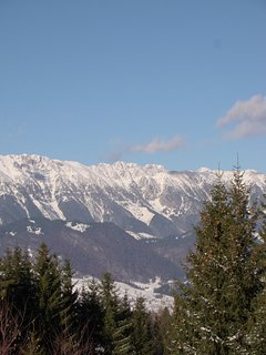 Piatra Craiului mountain, view from the top of our garden