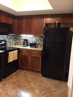 Refrigerator with icemaker...Toaster, Blender, Drip and K-Cup Coffee Makers..