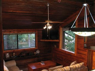 Clean, quiet, peaceful, wooded, treehouse cabin., College Station