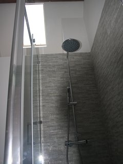 Shower Room with skylight