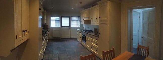 Very large kitchen/diner with utility room and washing machine and separate tumble dryer
