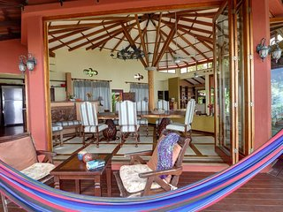 View of the Great Room from the terrace and a comfy hammock, if you want to nap awhile