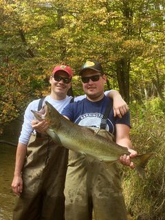 Terrific fishing in Hamlin Lake, Pere Marquette Lake, and Lake Michigan