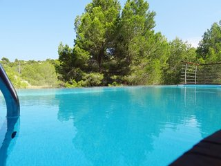 Magnificent 4BR villa with infinity pool and yard