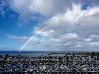Ocean & yacht harbor views!  Walk to beach, shops, restaurants!  Sleeps 4., Honolulu