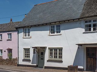 WHITE COTTAGE, pet-friendly cottage with woodburners, garden, Carhampton Ref