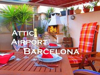 Apartamento Atico,  Terraza & BBQ, 3 Habitaciones, Viladecans