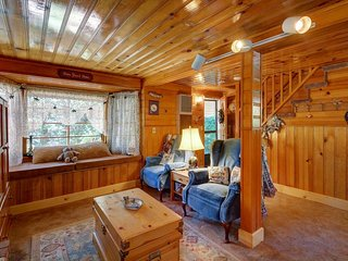 Charming mountain cabin w/ wood fireplace and private backyard
