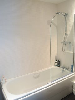 New modern fully fitted bathroom.