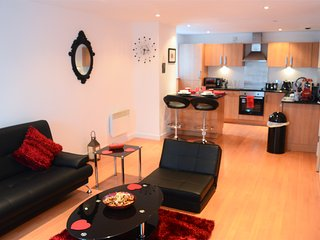 **Airbnb Superhost** Superb 1 Bed Apt(sleep 5) next to SSE Hydro & SECC