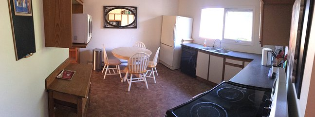 Fully furnished updated kitchen.