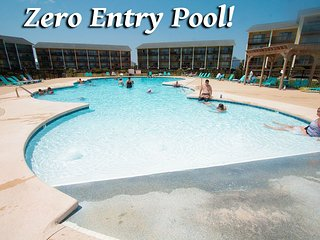 Surf Condo 614 | Zero Entry Pool....just a gradual slope to deeper & deeper h20