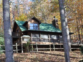 Whispering Woods Cabin - Large Log Rental in the Trees Wood Burning Fireplace Sc