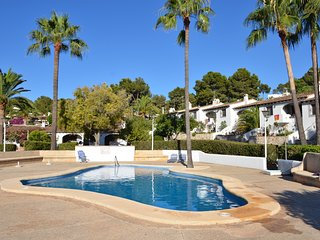 House in Moraira, 5 mins walk from town and beach, lovely pool and garden.