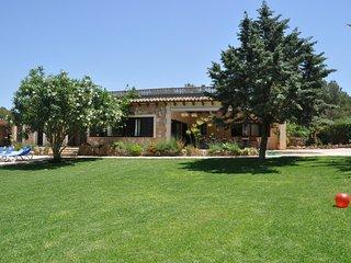 Finca rústica 1190 Es Bosc Cala Blava gran jardín con piscina