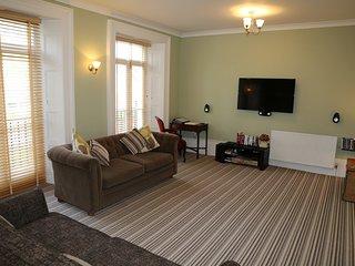 Living Room with Smart TV, tablet, fast fibre internet.