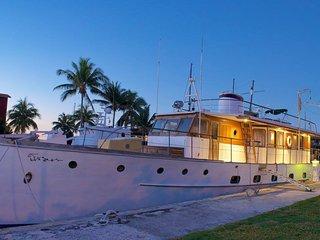 Unique waterfront living on antique Trumpy yacht, Palmetto