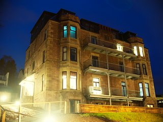 Benheath House at night
