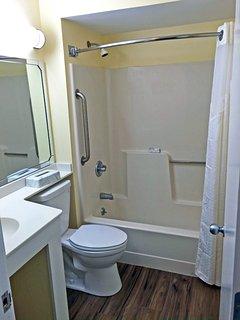 Full bathroom in the bedroom suite.