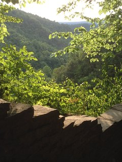 View from the Rim Trail at Upper Treman Park.