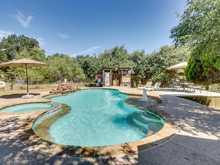 Country adorned dog-friendly home w/ shared pool & hot tub on large property, Dripping Springs