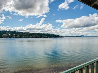 Lakefront, dog-friendly home, and access to a shared pool await you!