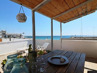 Penthouse for rent in Lido Gallipoli Conchiglie with breathtaking sea views