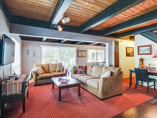 Dog-friendly, alpine escape, with a private hot tub and tree-lined views, South Lake Tahoe
