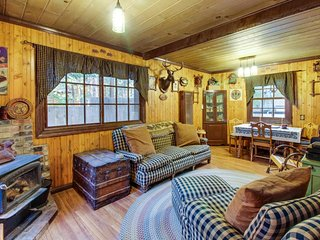 Rustic alpine cabin w/a prime Tahoe location and private hot tub - dog-friendly!, South Lake Tahoe