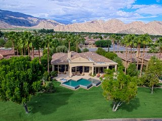 PGA West Summit! Luxury Home w/Private Lake Views, Infinity Salt Water Pool & Sp