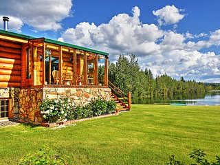 Remote 5BR Salcha Home on 7 Acres w/Lakefront Deck
