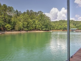 Lakefront 2BR Flowery Branch Cabin w/ Lake Access! Long Term Rental Available, Call For Rates!
